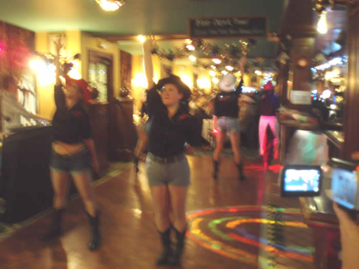The Team Dance in The Bar
